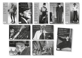 """10er Karl Valentin Postkarten Set """"eins"""""""