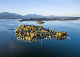 Postkarte: Chiemsee u. Fraueninsel