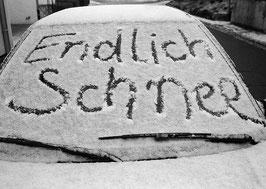 Postkarte: Endlich Schnee