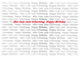 Postkarte: Einen scharfen Geburtstag