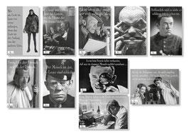 "10er Karl Valentin Postkarten Set ""drei"""