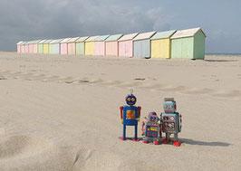 Postkarte: Wir drei im Urlaub