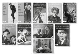 """10er Karl Valentin Postkarten Set """"zwei"""""""