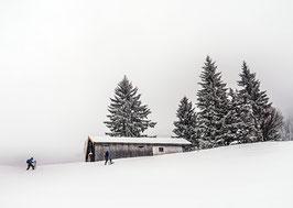 Postkarte: Schneeschuhwandern