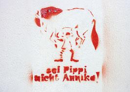 Postkarte: sei Pippi