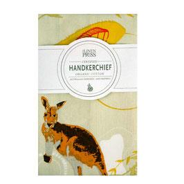 """Einsteck(Taschen)Tuch aus reiner Bio-Baumwolle  """"Kangaroo"""""""