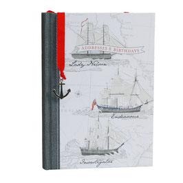 """Adressen- und Geburtstagsbuch aus 100%-Recyclingpapier """"Maritim"""""""