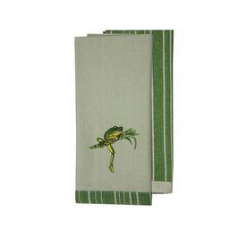"""Geschirrhandtuch Doppelpack (2 Stück) """"Green Tree Frog"""""""