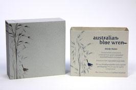 "Haftnotizblock aus 100%-Recyclingpapier ""Blue Wren"""