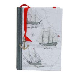 "Tagebuch/Notizbuch aus 100%-Recyclingpapier ""Maritim"""