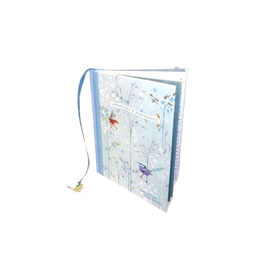 """Adressen- und Geburtstagsbuch aus 100%-Recyclingpapier """"Blue Wren"""""""