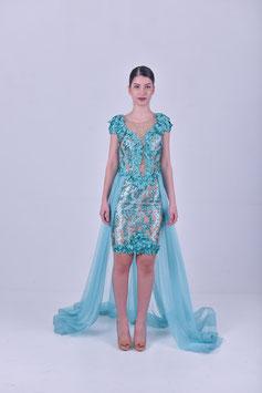 Premium Dress  - 3D Flowers