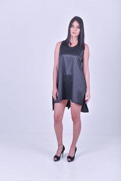 Satinkleid - schwarz
