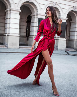 MANTELKLEID LANG bordeaux