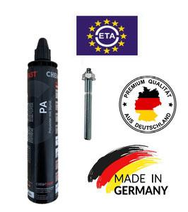 300 ml Injektionsmörtel Kartusche Made in Germany, inklusive 2 Mischer