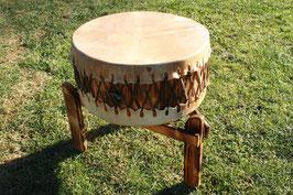 Pow Wow tromme på 60cm diameter med stel / Pow Wow Trommel 60 cm Durchmesser mit Gestell