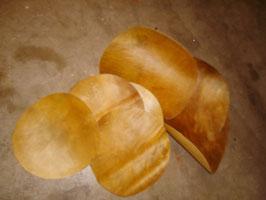 Trommelfelle Bison South Dakota verschiedene Durchmesser