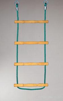 Strickleiter mit Herkules Tau und Holzsprossen 200 cm