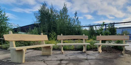 Rustikal Robinien Sitzbank Leo - mit Lehne aus Robinie in natürlicher Wuchsform