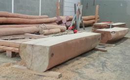 Sitzbank Hilde - massiv ohne Lehne aus Robinie