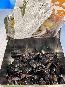 宮城県石巻産【殻付きムール貝のカンカン焼きセット】生ムール貝(1.5kg)
