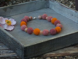 Windhundkette Rosa/Orange
