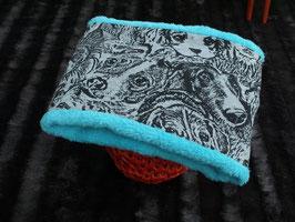 Loopschal Hunde grau