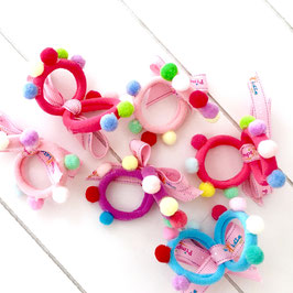 Baby-Collection - Pom Pom-Haargummi  2er-Set