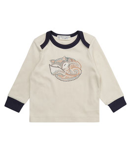 TIMBER BABY SHIRT BEIGE FOX PRINT