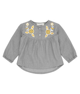 CHOLENA BABY TUNIKA DARK GREY MIT HERBST APPLIKATION