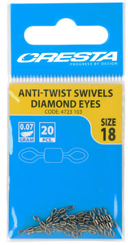 Cresta Anti-Twist Swivels Diamond Eyes