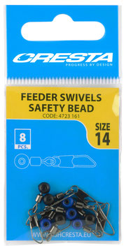 Cresta Feeder Swivels Safety Bead