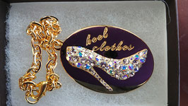 """ Heelclothes Special Charm Pave Gold Swarovski Crystal """