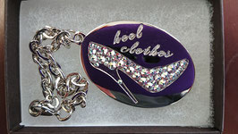 """ Heelclothes Special Charm Crystal Silver Swarovski Crystal """