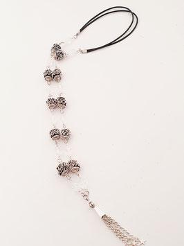 Lange Halskette mit Glasperlen