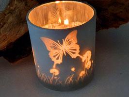 Teelicht Mit Schmetterlingen
