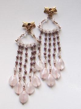 Orecchini Pink Chandelier