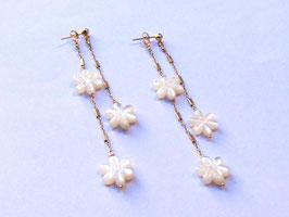 Orecchini White Flower