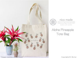 nico made  Aloha Pineapple トートバッグ