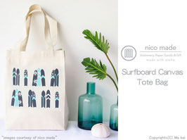 nico made Surfboard Canvasトートバッグ