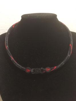 X30 Stoffkette Monotone black/red