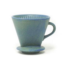 Keramik-Kaffeefilter, Farbe: Blau matt