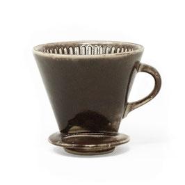 Keramik-Kaffeefilter, Farbe: Braun glänzend