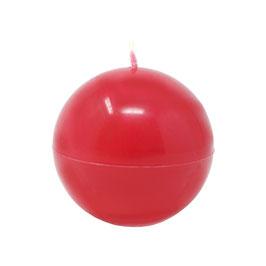 Kerze Kugel groß (470g), Farbe: Rot