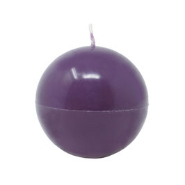 Kerze Kugel groß (470g), Farbe: Aubergine