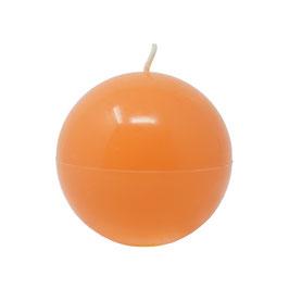 Kerze Kugel groß (470g), Farbe: Orange