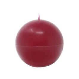 Kerze Kugel groß (470g), Farbe: Dunkelrot