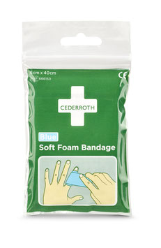 666150 - Cederroth Soft Foam Bandage Blue 6x 40cm