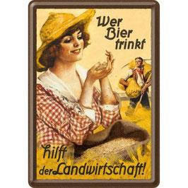 Bier Lady Landwirtschaft