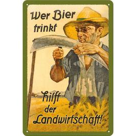 Bier Mann Landwirtschaft